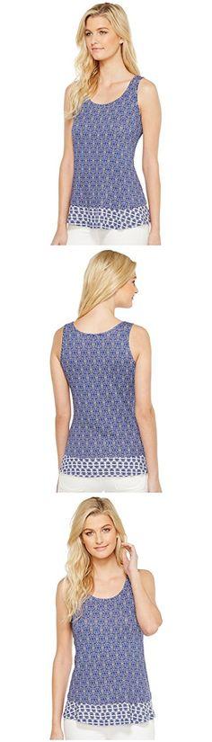 Karen Kane Women's Twin Print Tank Top Print Shirt