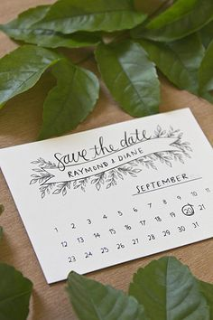 FREE wedding printable: Calendar save-the-dates by Bells & Whistles Stationery | From #BridalGuide #WeddingPrintable