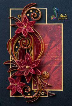 Neli Quilling Art: Quilling card - ( 10.5 cm - 15 cm )