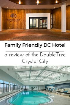 Heading to DC with kids in tow? Check out the DoubleTree by Hilton- Crystal City. Cookies upon check in, indoor pool on the 14th floor with incredible views and a revolving roof top restaurant with the most gorgeous views of the National Mall.  This hotel is located in Arlington VA but don't let that scare you. It is minutes from downtown DC.  Read the full review on www.GlobalMunchkins.com