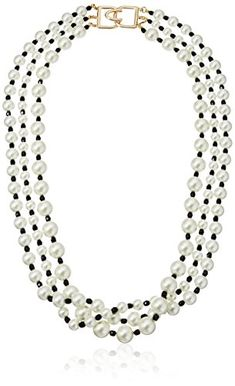 Gem Stone King 13-14mm Multicolor Cultured Freshwater Pearl 3-Row Necklace 18 Inch