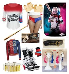 """Harley Quinn"" by prettyfashionista03 ❤ liked on Polyvore featuring COS"