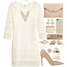 Untitled #268 by grapecar1015 on Polyvore featuring H&M, Barneys New York, Forever New, Dorothy Perkins, Kendra Scott, Chanel, Monki, Tuleste, Jane Iredale and Chloé