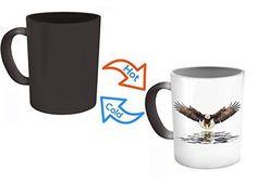 Eagles Mug - Eagle Flying Mug - Color Changing Mug - Heat Changing Coffee Mug- 11 Oz Ceramic Mug