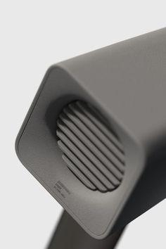 Button Green Grey hair dryer Logo Minimalist Orange Plastic See Through square Tonal Vent / leManoosh Id Design, Form Design, Texture Design, 3d Camera, Shape And Form, Diy Electronics, Aesthetic Design, Design Reference, Minimal Design