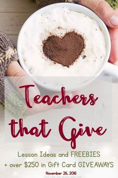 Each teacher is offering up a unique gift card & freebies. Our giveaway exceeds $250! Best of luck & happy holidays!