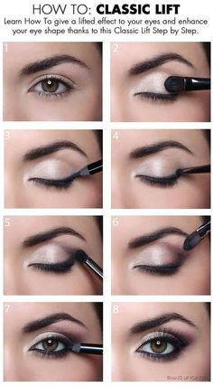Makeup Artist ^^ | https://pinterest.com/makeupartist4ever/ How to : give a classic lift to your eyes