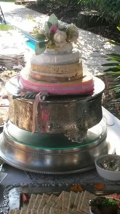 Five layers of Cheese Wedding Cake.