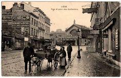Vieilles belles pub a gauche (On voit bien la gare des Guillemins au font) Liège -Belgique