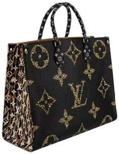 The Louis Vuitton Onthego Rare Limited Cheetah Leopard Monogram Giant Jungle 871568 Black Coated Canvas Tote is a top 10 member favorite on Tradesy. Louis Vuitton Handbags 2017, Louis Vuitton Designer, Tote Handbags, Purses And Handbags, Louis Vuitton Monogram, Designer Handbags, Vuitton Bag, Leather Handbags, Louis Vuitton Clothing