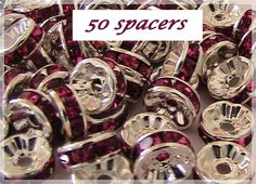 '50 Pcs - Crystal Rondelle Spacer Bead (8mm)' is going up for auction at 12pm Sat, Jan 5 with a starting bid of $5.