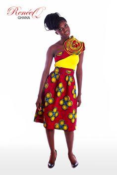 ReneeQ asymmetric Print dress
