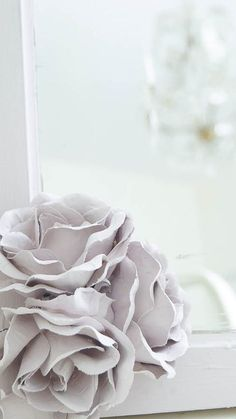 DIY Chalky Paint Porcelain Roses - White Lace Cottage