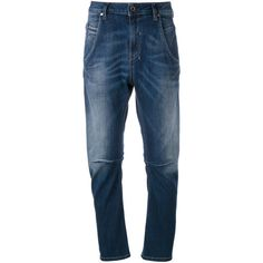 Diesel straight leg jeans (3 980 UAH) ❤ liked on Polyvore featuring jeans, blue, diesel jeans, straight leg jeans and blue jeans