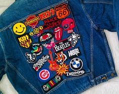 patched denim jacket - Google Search