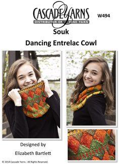 Dancing Entrelac Cowl Cascade Souk - W494