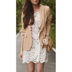 Crochet tunic dresses.