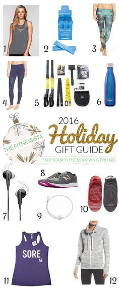 The ultimate holiday gift guide for the fitness lovers in your life! fitnessista.com