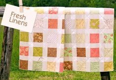Fat Quarter quilt tutorial | sew4home