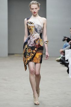 Mary Katrantzou dress from her Fall 2010 collection