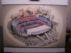 Camp Nou home of Barcelona @ www.sportsstadiaart.co.uk