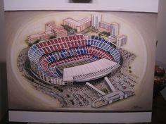 Camp Nou home of Barcelona @ www.sportsstadiaart.co.uk