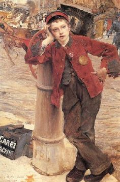 London Bootblack-Jules Bastien-Lepage (1848 – 1884, French)