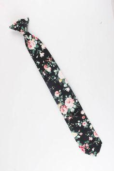 Boys Floral Clip On Tie