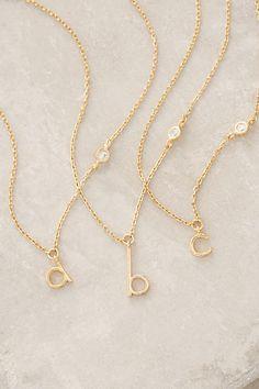 Anthropologie Mini Monogram Pendant Necklace