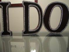 I Do! Letters :  wedding diy i do purple reception reception decor IMG 0228