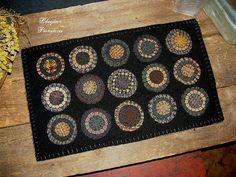Bluejean Primitives Black Penny Rug