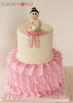 Ballet Birthday Cake Ballet birthday cakes Birthday cakes and Cake