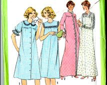 Simplicity 8198 Misses' Nightgown and Robe in two lengths Size 12 UNCUT
