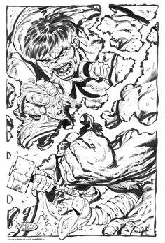 The Hulk Battles Thor