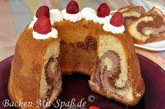 Schoko- Himbeer- Marmorkuchen - Rezept