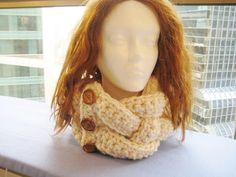 Forget the creepy head- this scarf is great!  Alicia Cowl Crochet Pattern, Free Pattern