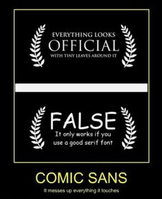 24 Best BAN COMIC SANS!! images in 2017 | Comic sans, Comics