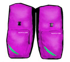 Bike Panniers, Pair of 85 Liters - North Vybe (model Bicycle Panniers, Bicycle Bag, Very Cold, Fixed Gear, Purple, Blue, Pairs, Model, Viola