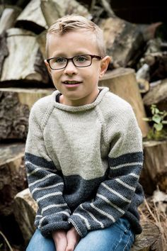 Smart to-farvet sweater