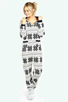 Nordic #Winter Adult Womens #Onesie $40.00