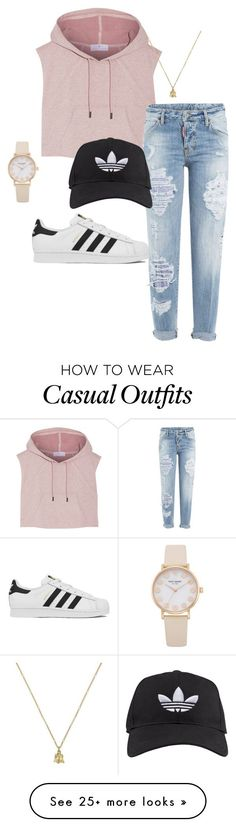 """""""Casual Tumblr"""" by lizziecullen6 on Polyvore featuring moda, adidas, Dsquared2 e Gucci"""
