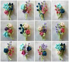 Crochet Boutonniere Pattern