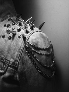Spikes and Chains are related to the Punk Fashion #punk #vintage #blackandwhite