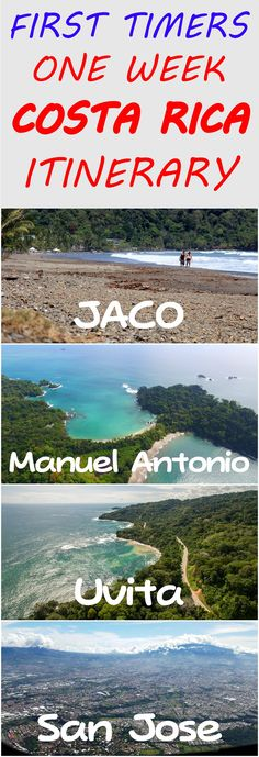 Going to Costa Rica for 1 week? Here is a sample itinerary perfect for first time travelers visiting to the country, visiting the Central and South Pacific: http://mytanfeet.com/costa-rica-travel-tips/1-week-costa-rica-itinerary/