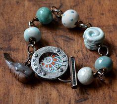 Sail Away by LoreleiEurtoJewelry on Etsy, $80.00- ceramic whale #ocean #jewelry
