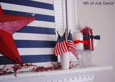 super cute fourth of july crafts!..You know how much I LOVE my holidays & the 4th. of July!