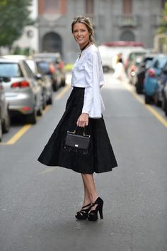 Helena Bordon having a spontaneous moment, loving her Dolce & Gabbana Miss Sicily!