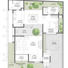 Contemporary House Plans, Modern House Plans, Modern Contemporary, House Layout Plans, House Layouts, Square Floor Plans, Skylight Covering, Modern Tree House, Duplex Floor Plans