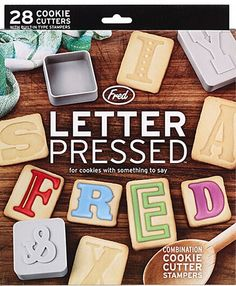Letter Pressed Cookie Stamps @Julie Wood Lemley