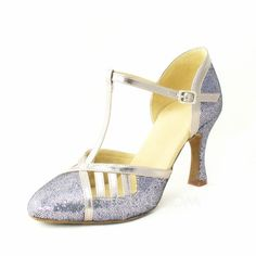 Dance Shoes - $37.99 - Women's Sparkling Glitter Heels Pumps Latin With T-Strap Dance Shoes (053053873) http://jjshouse.com/Women-S-Sparkling-Glitter-Heels-Pumps-Latin-With-T-Strap-Dance-Shoes-053053873-g53873